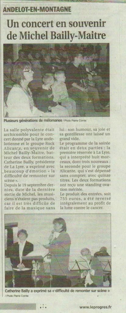 Presse Concert pour Michel